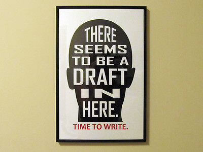 Draft in Your Head Time To Write Poster writing gifts for writers author novel