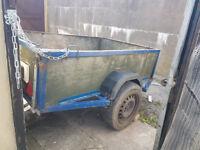 Trailer 6x4ft (182x122cm) with jockey wheel