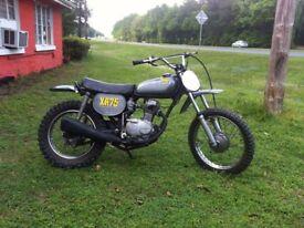 Honda XR75 1974 Classic Kids Childs Childrens Scrambler Dirt Bike