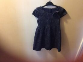 Navy party dress age 5-6yrs