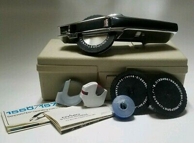 Dymo 1570 Vintage Chrome Label Maker In A Carry Case Extra Wheels Tape Tested