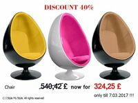 Stylish Waiting Chair / Egg-shaped Chair
