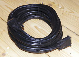 10m DVI cable for computer monitors, 2 available. VGC, barely used. Monitor, video