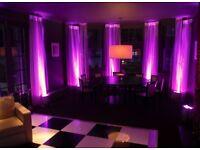 Mood & wash lighting. Uplighters hire & rental.