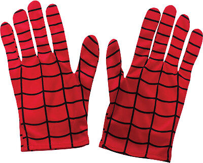 Spiderman Adult Red Gloves Costume Accessory Comics Superhero Dress Up Rubies