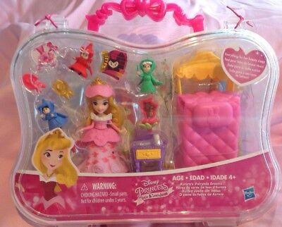 DISNEY PRINCESS LITTLE KINGDOM AURORA'S FAIRYTALE DREAMS DOLL SET & CARRY CASE