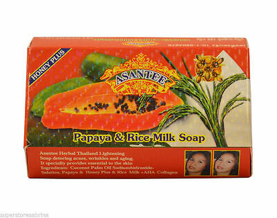 Papaya &  Rice Milk SKIN LIGHTENING SOAP  1 x 125g *ASANTEE THAILAND*