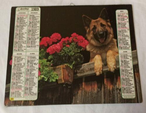 Almanach calendrier du facteur 1989 / chevaux et berger allemand