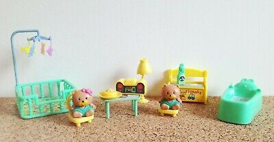 TEDDY'S WONDERLAND Happy Bears playset miniature bear world vintage 90s mini toy
