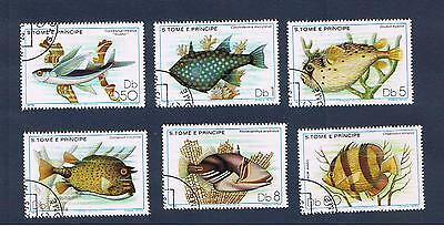 St.Thomas & Prince Islands #548-553 VFused  Fish