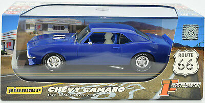 Pioneer 1968 Chevy Camaro SS 350 Blue J-Code Prototype 1/32 Scale Slot Car