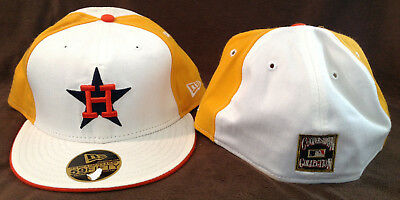 Houston Astros MLB New Era 59FIFTY Fitted Hat Cooperstown Collection Size 7 5/8 Houston Astros Cooperstown Collection