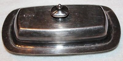 Wallace Silverplate Silver Plate Butter Dish  #907