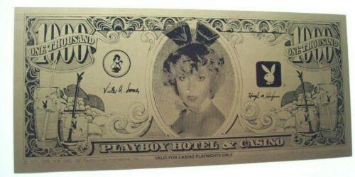 Playboy Atlantic City Casino Fun Paper Money Non Currency Hugh Hefner Bunnies