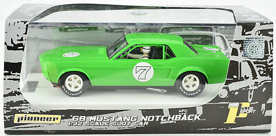 Pioneer 1968 Ford Mustang Notchback Lime Green J-Code Prototype 1/32 Slot Car