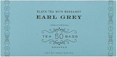 Harney and Sons Earl Grey Bergamot Black Tea 100g 3.57 Oz 50 Tea Bags Pack of 50