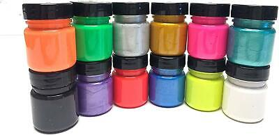 Scola Fabric Paint 28ml x 12 Assorted Colours