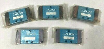 Lot Of 5 Alkon P-070 Dp Pneumatic Solenoid Valves New Sealed