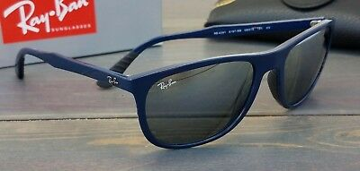 New Ray Ban RB4291 6197/88 Sunglasses Gloss Navy w / Gray Silver Gradient (Navy Ray Bans)