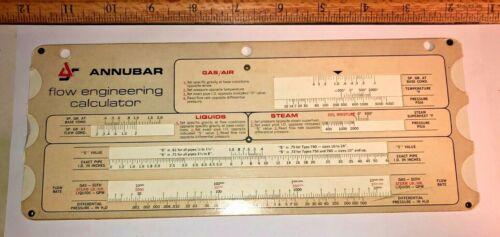 Vintage Slide Rule Flow engineering calculator annubar
