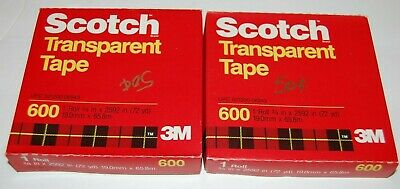 Lot Of 2 - Scotch 3m 600 Transparent Tape - 34 X 2592 - 72yd - New Sealed