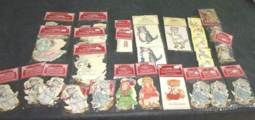 Vintage LOT Kitty Cucumber Gift Tags / Ornament Christmas Victorian NEW IN PACK