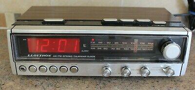 Vintage Retro Lloytron Clock Radio Alarm Clock With Calender