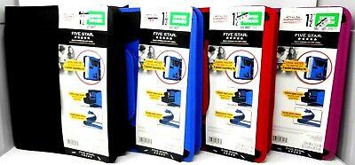 Five Star 1.5 Multi-pocket Zipper Binder - 500 Sheet Capacity Color