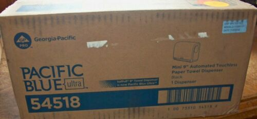 "Pacific Blue Ultra 9"" Mini Automatic Paper Towel Dispenser GP PRO Black, 54518"