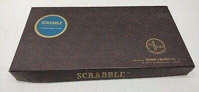 Vintage Scrabble Board Game Original 1st 1948 1953 Selchow & Righter
