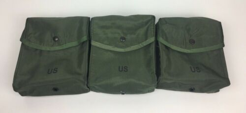 3 ea. New USGI US MILITARY 200 Round Small Arms Ammo Case Pouch Bag Alice OD