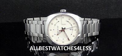 Gucci GG2570 Diamond Dial Silver Tone Stainless Steel Women's Watch YA142403