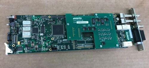 Evertz 7721DE4-HD+GPI HD/SD-SDI Quad Data Embedder Card w/ Backplane