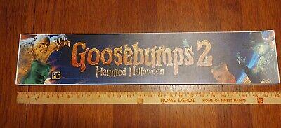 "Goosebumps 2 Haunted Halloween 2018 Movie Theater Mylar Banner 5"" X 25"""