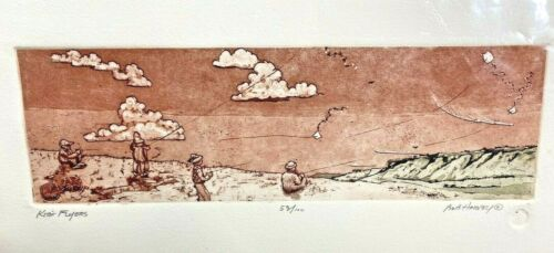 """BOB HARVEY """"Kite Flying"""" LIMITED EDITION 53/100 ETCHINGS"""