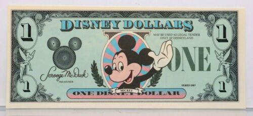 1987 $1 Disney Dollars PROOF Type 1 No Serial Number Uncirculated Disneyland