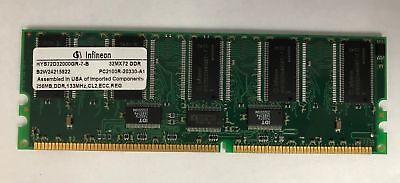 Infineon 256MB DDR 133MHZ CL2 ECC Reg PC2100R RAM Memory HYS72D32000GR-7-A