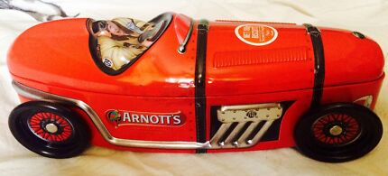 2 x Racing Car Biscuit Collectable Tin Arnotts Beenleigh Logan Area Preview