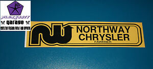 NORTHWAY Chrysler Valiant Dealer Decal,Charger,Pacer,R/T,VG,VH,VJ,VK