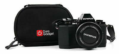 Ultra-Portable Compact Camera Carry Case in Black Neoprene for Olympus OM-D EM10 Ultra Compact Camera Case