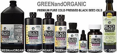 Amazing Herbs 100% Pure Organic Black Seed Oil Cold Pressed Cumin Nigella Sativa