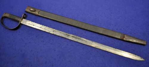 SCARCE! BRITISH P1879 SAWBACK SWORD BAYONET FOR .577-450 MARTINI HENRY RIFLE