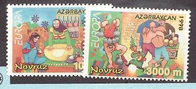 #682-83  - Azerbaijan  - 1998 - Holiday Meal & Sports - MNH  - VF - superfleas