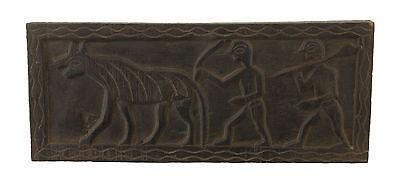 Antique Seat Tribale Art Ethnic Tharu Nepal -scene agraire-3217