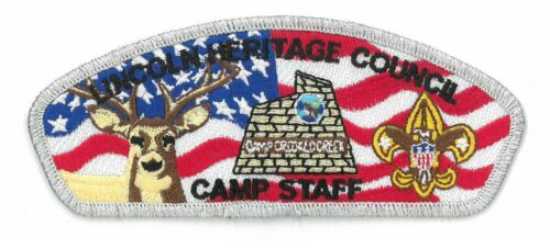 Boy Scout Patch RARE Official Badge CSP/BSA/US/FOS/Camp Staff/Lincoln Heritage