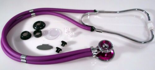 Sprague Rappaport Stethoscope, Purple Adult, Bling, and Purple Bling Chestpiece