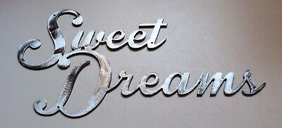 Sweet Dreams Metal Wall Decor Accents Polished Steel 10 1/2