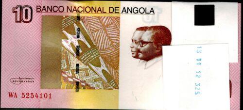 2012 Angola 10 Kwanzas Bundle Uncirculated 100 Notes