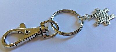 Autism Awareness Antique Silver Tone Jigsaw Charm Swivel Clasp Keyring