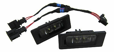 For VW 2x Original LED License Plate Light+Canbus Connection Adapter Cable